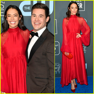 Adam DeVine & Fiancee Chloe Bridges Couple Up for Critics' Choice Awards 2020