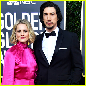 Adam Driver Suits Up for Golden Globes 2020 With Wife Joanne Tucker