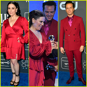 Andrew Scott & Alex Borstein Are Matching in Red While Accepting Together at Critics' Choice Awards 2020
