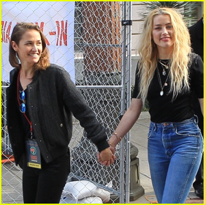 Amber Heard Holds Hands with New Girlfriend Bianca Butti at Women's March in L.A.