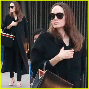 Angelina Jolie Was Spotted at the Mall During the Golden Globes