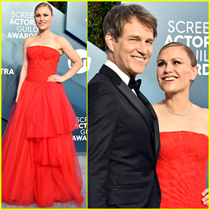 Anna Paquin is Ravishing in Red With Stephen Moyer at SAG Awards 2020
