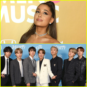 Ariana Grande 'Bumps Into' BTS at Rehearsal Studio!