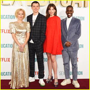 Asa Butterfield, Gillian Anderson & 'Sex Education' Cast Celebrate Season 2 Premiere!
