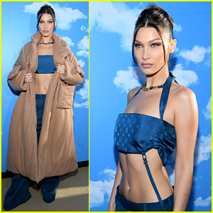 Bella Hadid Shows Off Lots of Skin at Louis Vuitton Show!