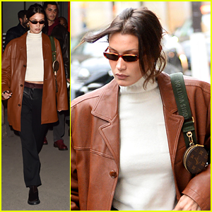 Bella Hadid Dines Out in Paris After Fashion Meetings