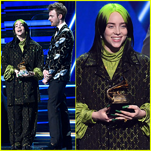 Billie Eilish Wins Song of the Year for 'Bad Guy' at Grammys 2020!