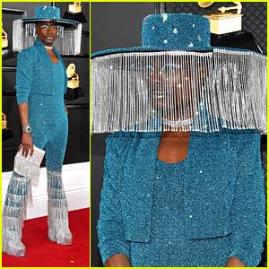 Billy Porter Wears A Crystal Fringe Hat To Grammys 2020