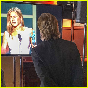 Brad Pitt Stopped to Watch Jennifer Aniston's Speech Backstage at SAG Awards 2020!