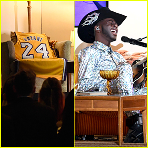 Lil Nas X Pays Tribute To Kobe Bryant During 'Old Town Road' Grammys Performance