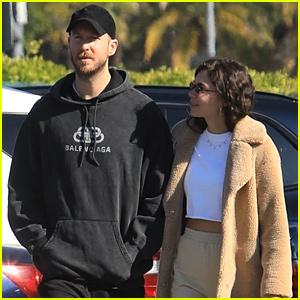 Calvin Harris & Girlfriend Aarika Wolf Grab Breakfast After He Teases New Music