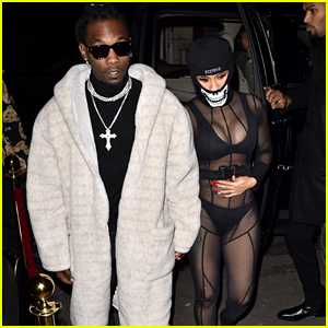 Cardi B Rocks a Sheer See-Through Outfit With Offset for a Night Out in Paris
