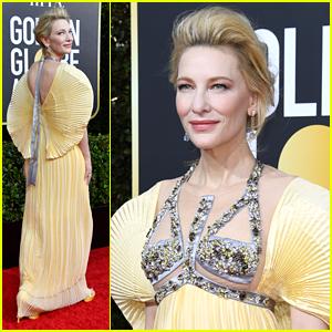Cate Blanchett Wears Butterfly Sleeves For Golden Globes 2020