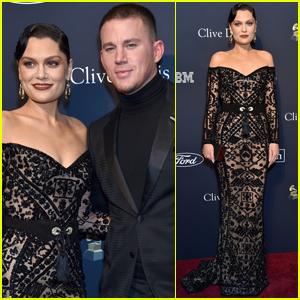 Channing Tatum & Jessie J Coordinate in Black for Pre-Grammys 2020 Gala!