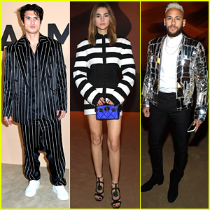 Charles Melton Steps Out For Balmain Fashion Show After 'Bad Boys' Premiere