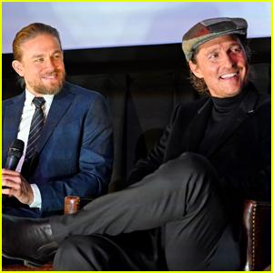 Charlie Hunnam & Matthew McConaughey Buddy Up for 'The Gentlemen' Screening