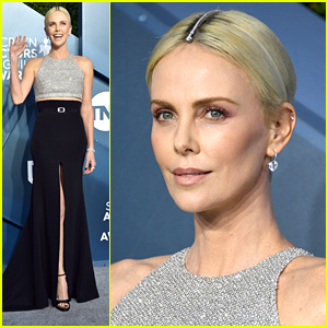 Charlize Theron Wears Diamonds In Her Hair For SAG Awards 2020