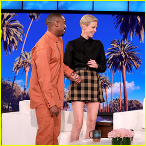 Charlize Theron Gets a Surprise Visit from Michael B. Jordan (Video)