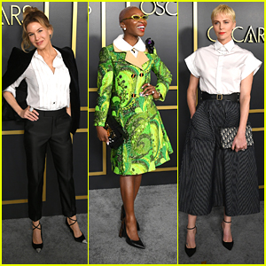 Renee Zellweger, Cynthia Erivo & Charlize Theron Step Out For Oscars 2020 Luncheon