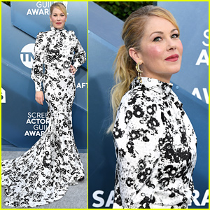 Christina Applegate Dons Black & White Daisy Gown at SAG Awards 2020