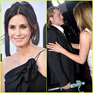 Courteney Cox 'Liked' So Many Photos of Brad Pitt & Jennifer Aniston's Reunion