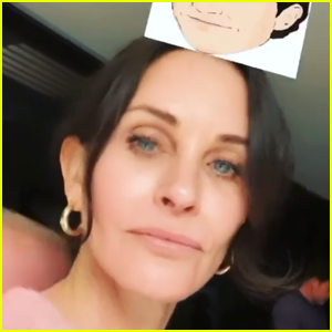 Courteney Cox Uses 'Which Friends Character Are You?' Instagram Filter (Video)