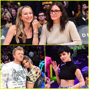 Courtney Cox, Emily Ratajkowski & More Have Night Out at Star-Studded Lakers Game!