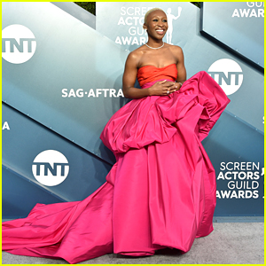 Cynthia Erivo Stuns in Bold & Gorgeous Pink Gown at SAG Awards 2020