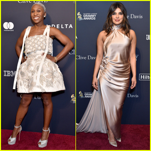 Cynthia Erivo & Priyanka Chopra Go Glam for Clive Davis' Pre-Grammys Gala