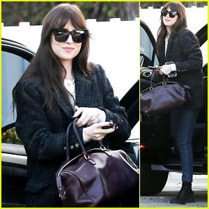 Dakota Johnson Looks Fashionable While Running Errands in Los Angeles