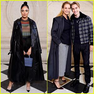 Tessa Thompson, Uma Thurman, & More Attend Dior's Paris Show