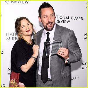 Drew Barrymore Makes Surprise Appearance at NBR Gala 2020 To Present Adam Sandler With Best Actor Award