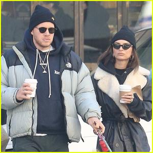 Emily Ratajkowski & Husband Sebastian Bear-McClard Go for Coffee Run in NYC