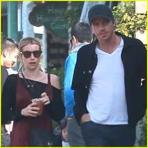 Emma Roberts & Boyfriend Garrett Hedlund Head to Breakfast in Los Feliz