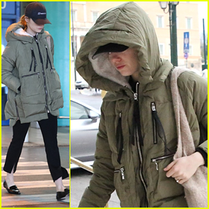 Emma Stone Shows Off Engagement Ring During Trip to Athens