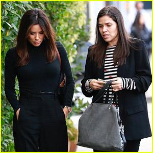 Eva Longoria Grabs Lunch with Pregnant Friend America Ferrera