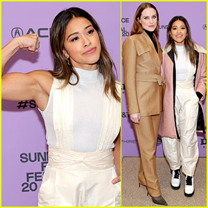 Gina Rodriguez Flexes Her Muscles at 'Kajillionaire' Premiere with Evan Rachel Wood!