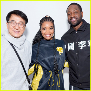 Gabrielle Union & Dwyane Wade Join Jackie Chan at Li-Ning Fashion Show in Paris!