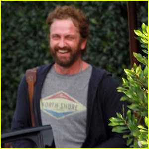 Gerard Butler is All Smiles During Lunch With Friends in WeHo