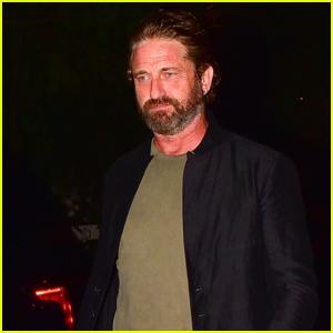 Gerard Butler & Girlfriend Morgan Brown Enjoy Date Night in West Hollywood