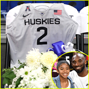 Gianna Bryant Remembered By Dream School University of Connecticut with Jersey at Huskys Basketball Game