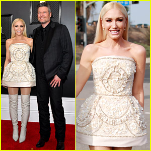 Gwen Stefani Wears Shells on Her Dress at Grammys 2020 with Blake Shelton!