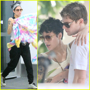 Halsey Jets Out of Australia After Spending Time With Boyfriend Evan Peters