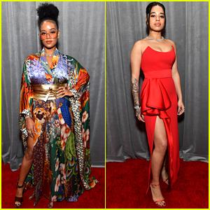H.E.R. & Ella Mai Slay Grammys 2020 Red Carpet in Bold Colors