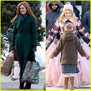 Isla Fisher & Jillian Bell Start Filming Disney+ Movie 'Godmothered' - See Set Photos!