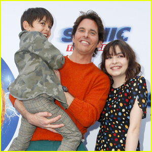 James Marsden Brings Son William & Daughter Mary to 'Sonic The Hedgehog' Family Day Event!