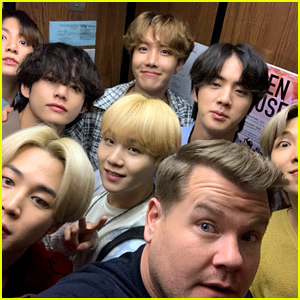 James Corden Gives Out Cupcakes to BTS Fans Ahead of 'Late Late Show' Appearance