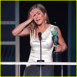 Jennifer Aniston Sends Love to Adam Sandler While Accepting Award at SAG Awards 2020