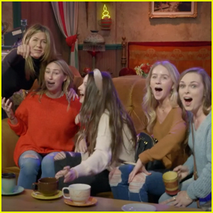 Jennifer Aniston Scares 'Friends' Fans at Central Perk Set - Watch!