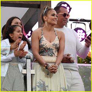 Jennifer Lopez & Alex Rodriguez Bring Their Kids to Pegasus World Cup Championship!